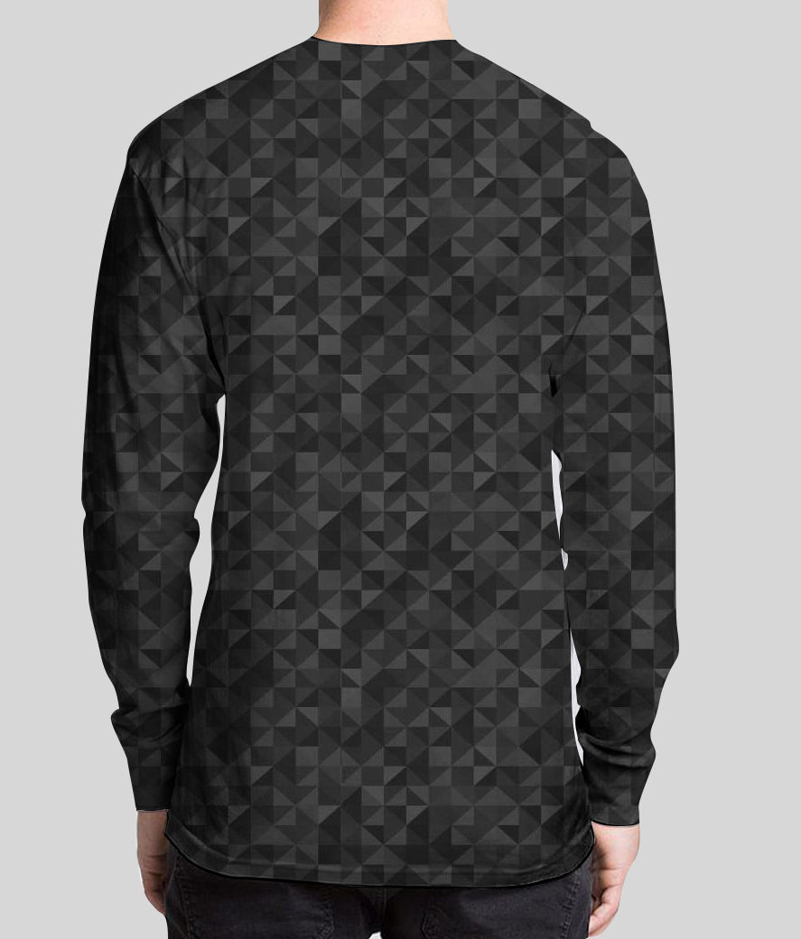 Life is a maze men's printed full sleeves henley back