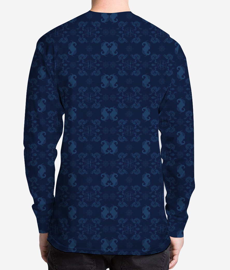 The royal tag men's printed full sleeves henley back