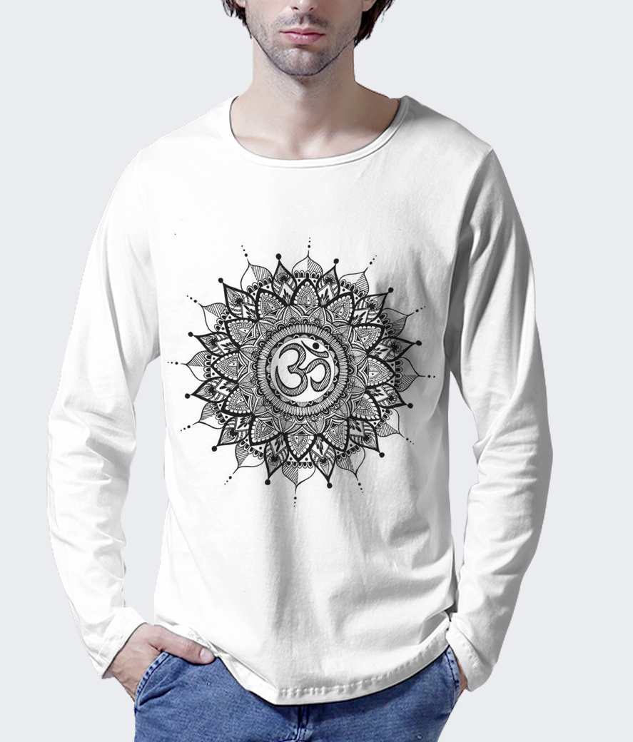 Om men's printed henley