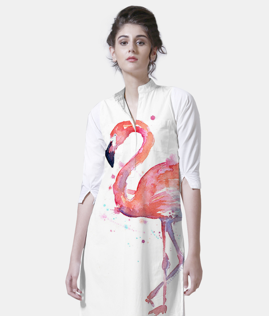 Flamingo women's printed kurta