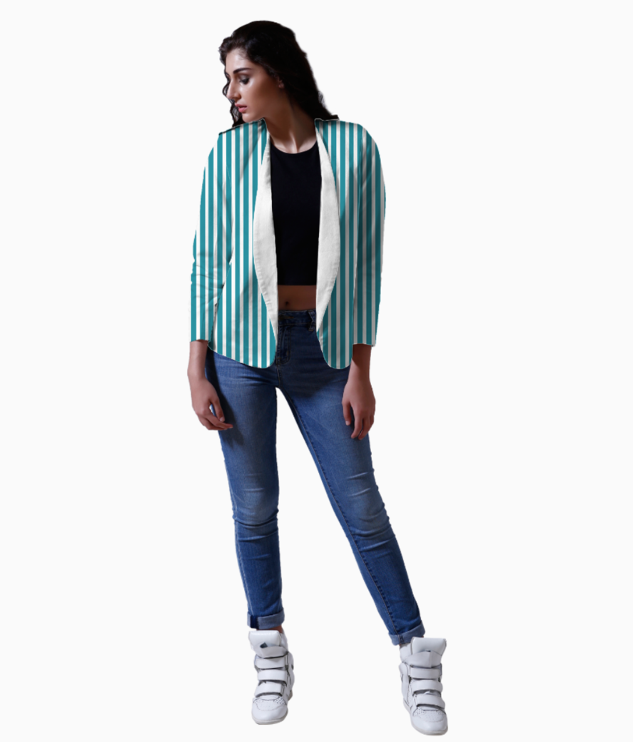 Stripes blazer front