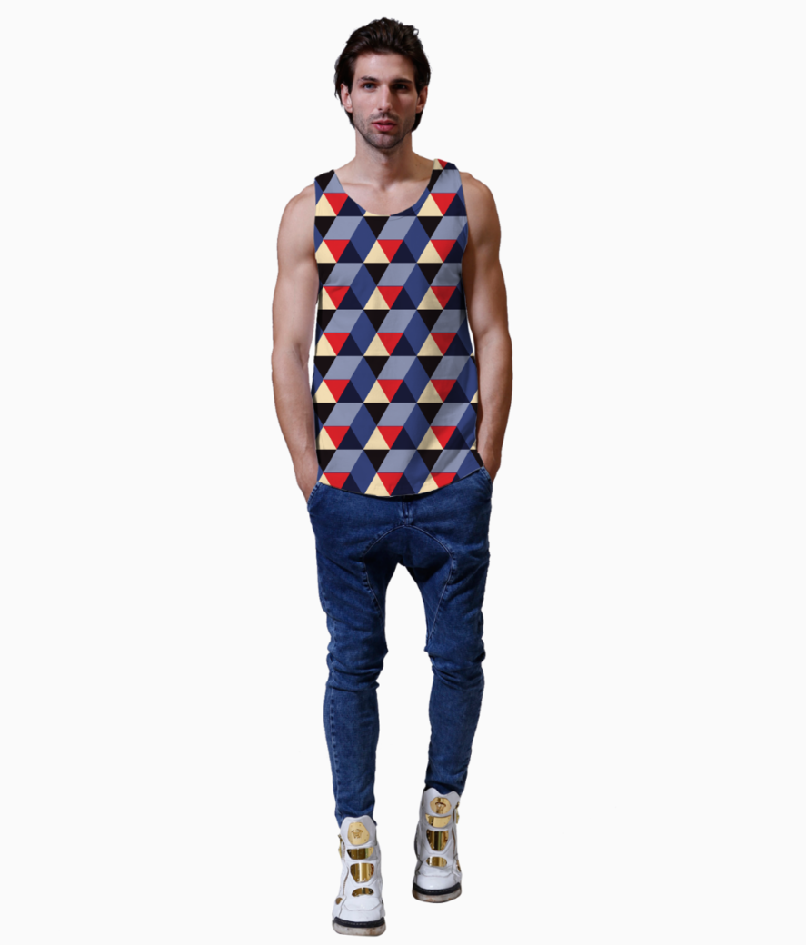 Abstract 3d geometric pattern vest front
