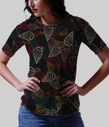 Traditional swirl fabric tee front