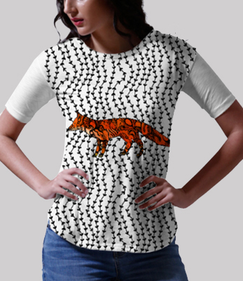Funky foxy small tee front