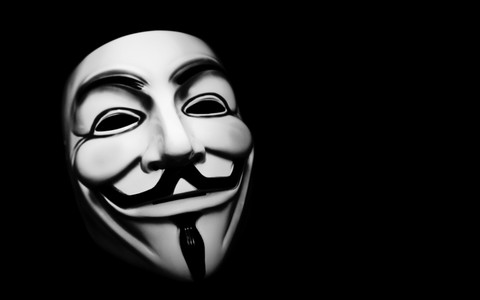 Anonymous masks hackers v for vendetta black background 3840x2400