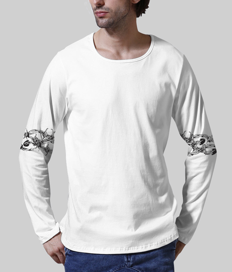 Wire men's printed henley