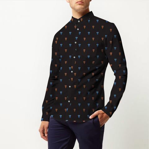 Face coture shirt front cloesup 1