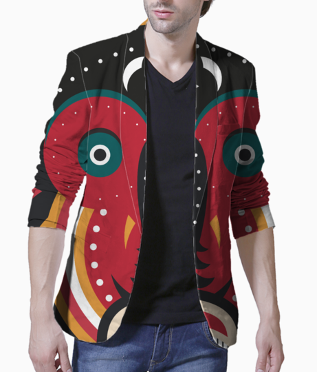 Ethnic african tribal art men's blazer front