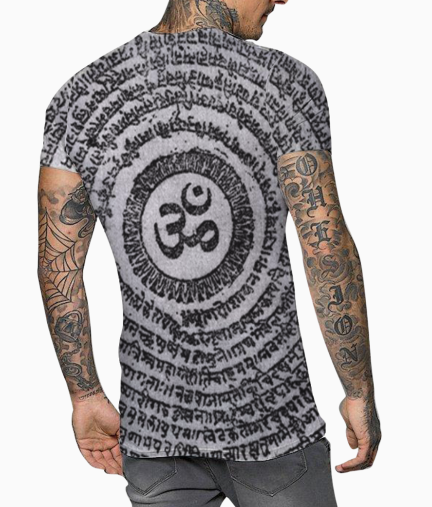 Peace of mind t shirt back