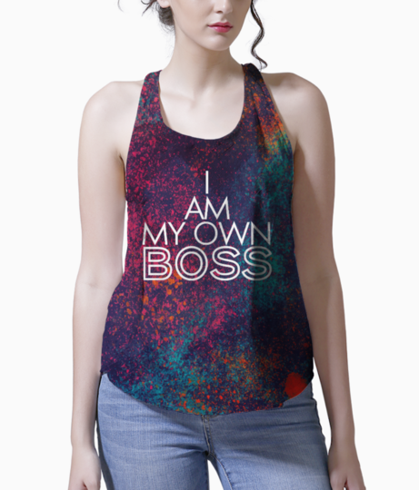 I am my own boss tank front