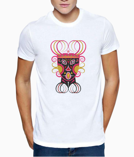 Ceremonial tribal mask t shirt front
