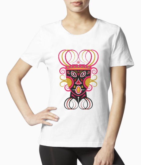 Ceremonial tribal mask tee front