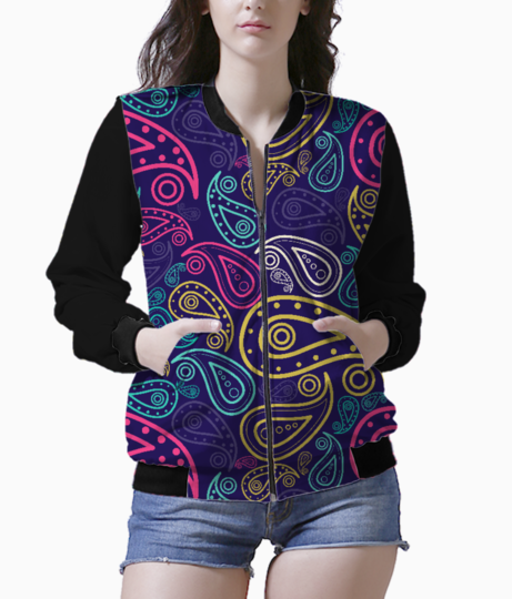 Paisley women's bomber front
