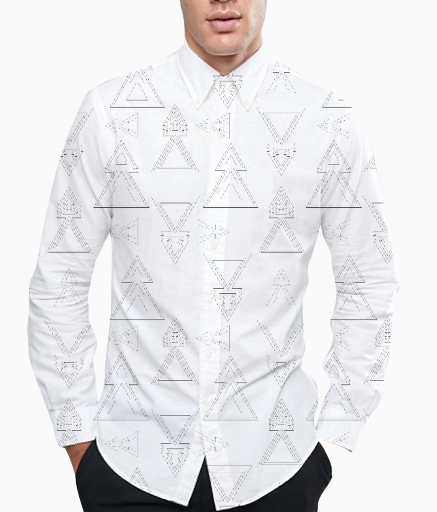 Triangel arrows basic shirt front