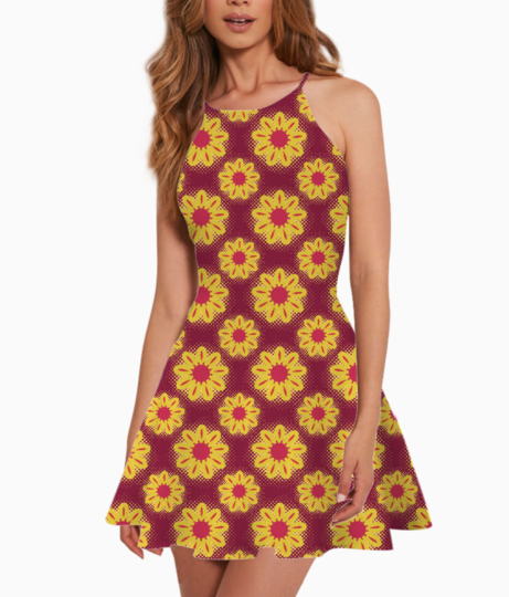 Sunflowers summer dress front