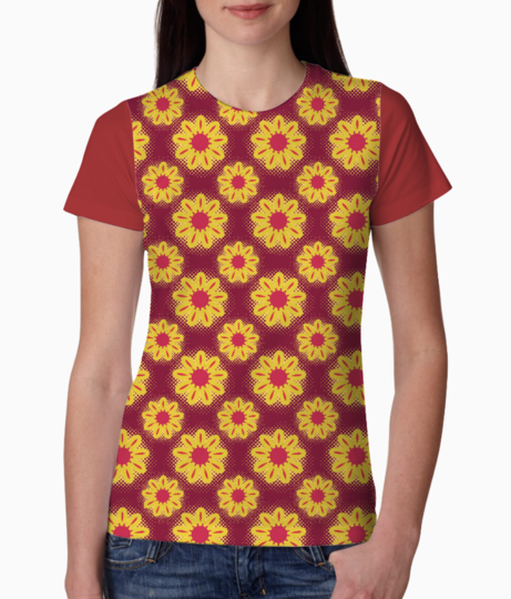 Sunflowers tee front