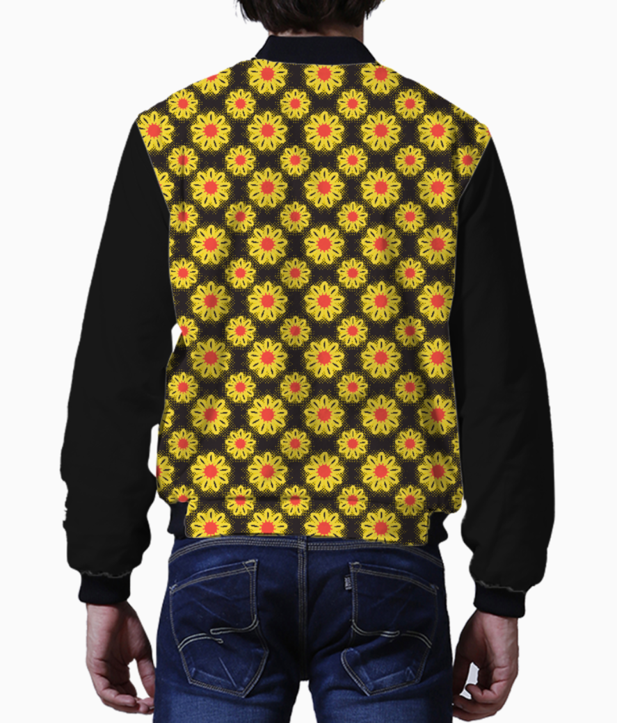 Summer flowers men's bomber back
