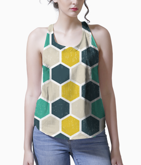 Hexagonal geometric tank front