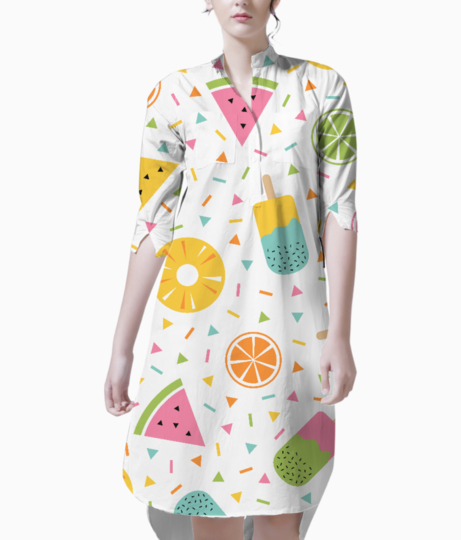 Fruity summer kurta front