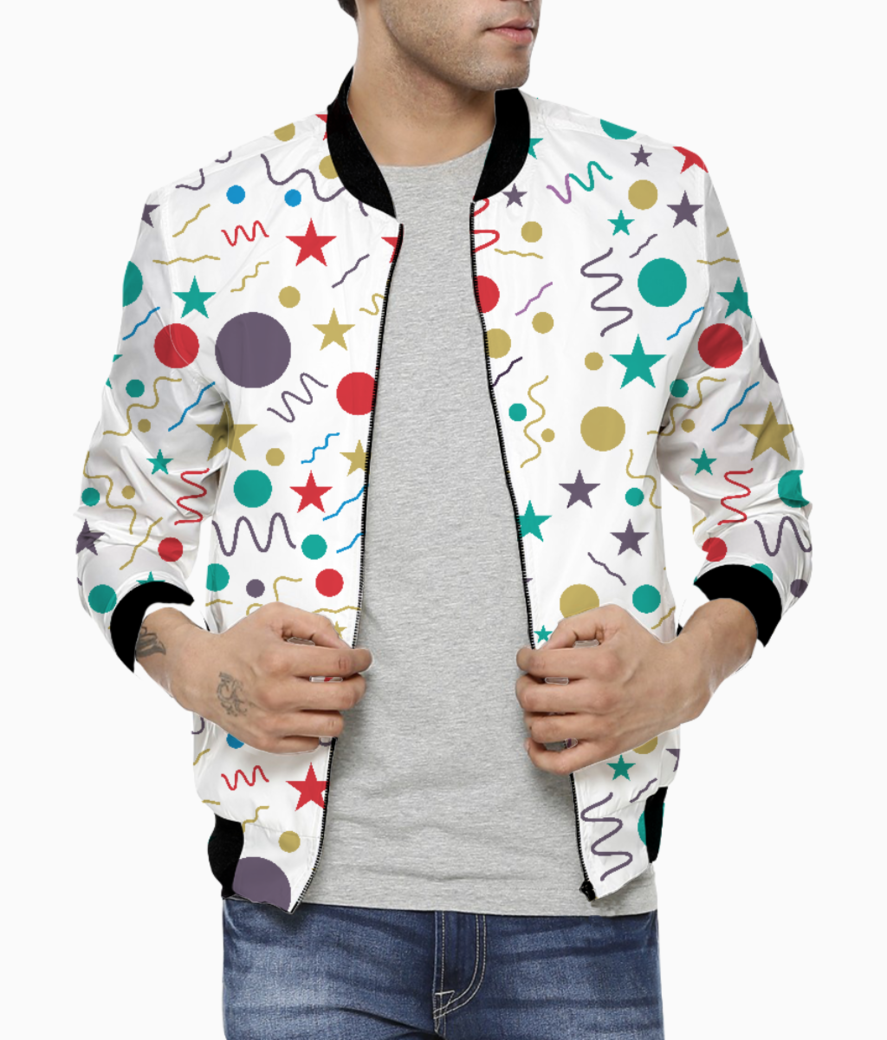 Little shapes men's bomber front