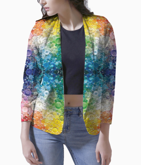 Colorful women's blazer front