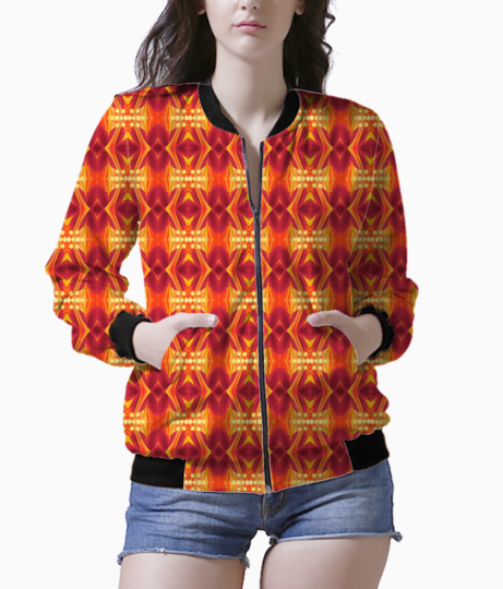 Redwaes women's bomber front