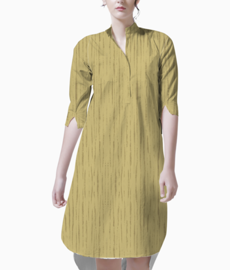 Dark golden wall kurta front