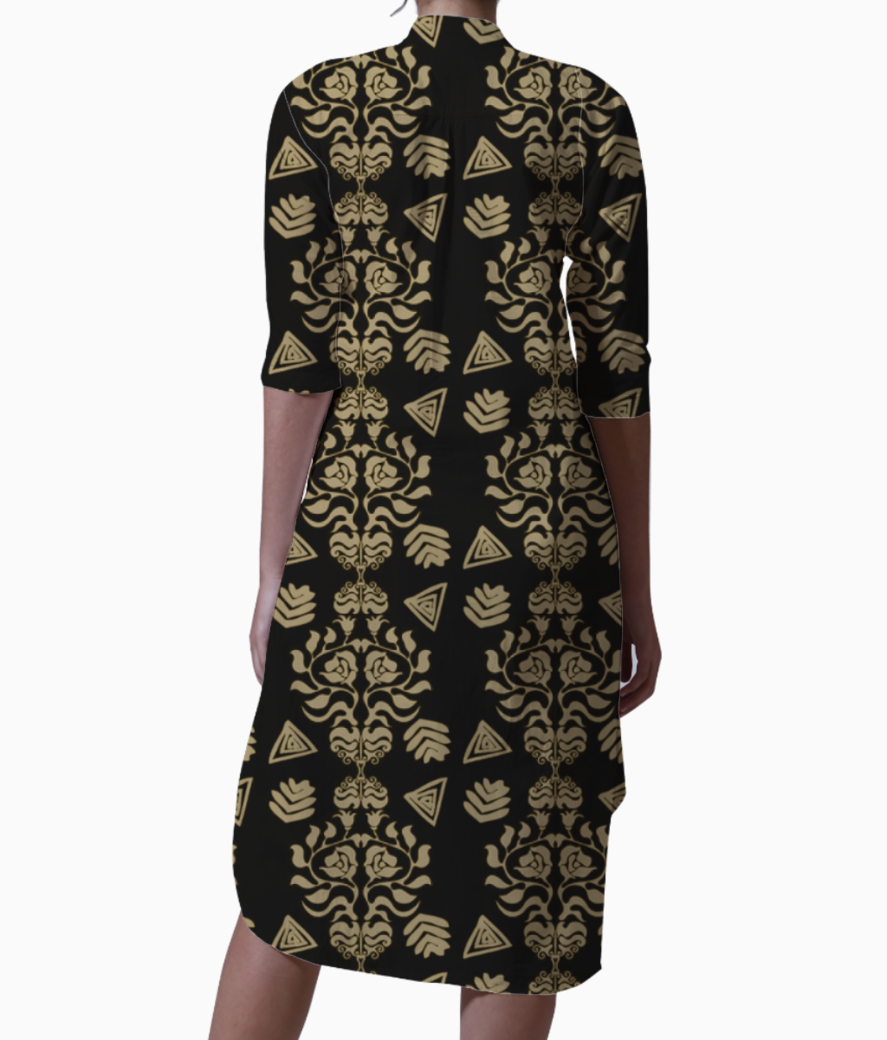 Damask kurta back