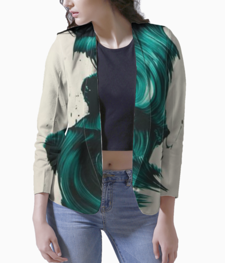 Water brush women's blazer front
