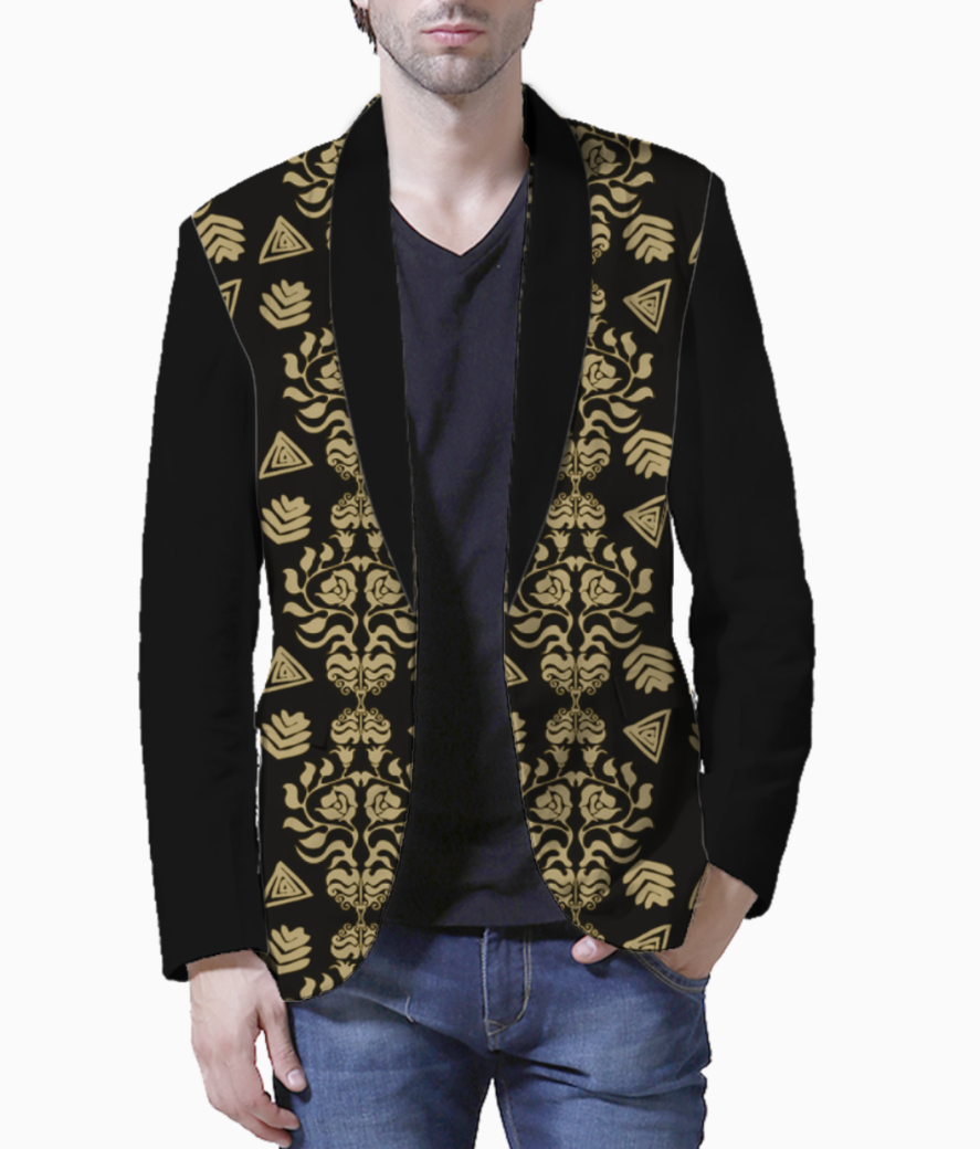 Damask men's blazer front