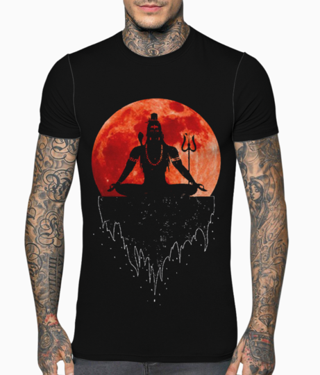 Lord shiva t shirt front