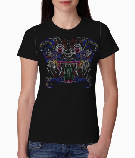 Tribal face illusion tee front