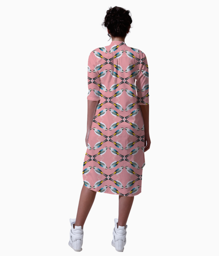 Bird pattern copy kurta back