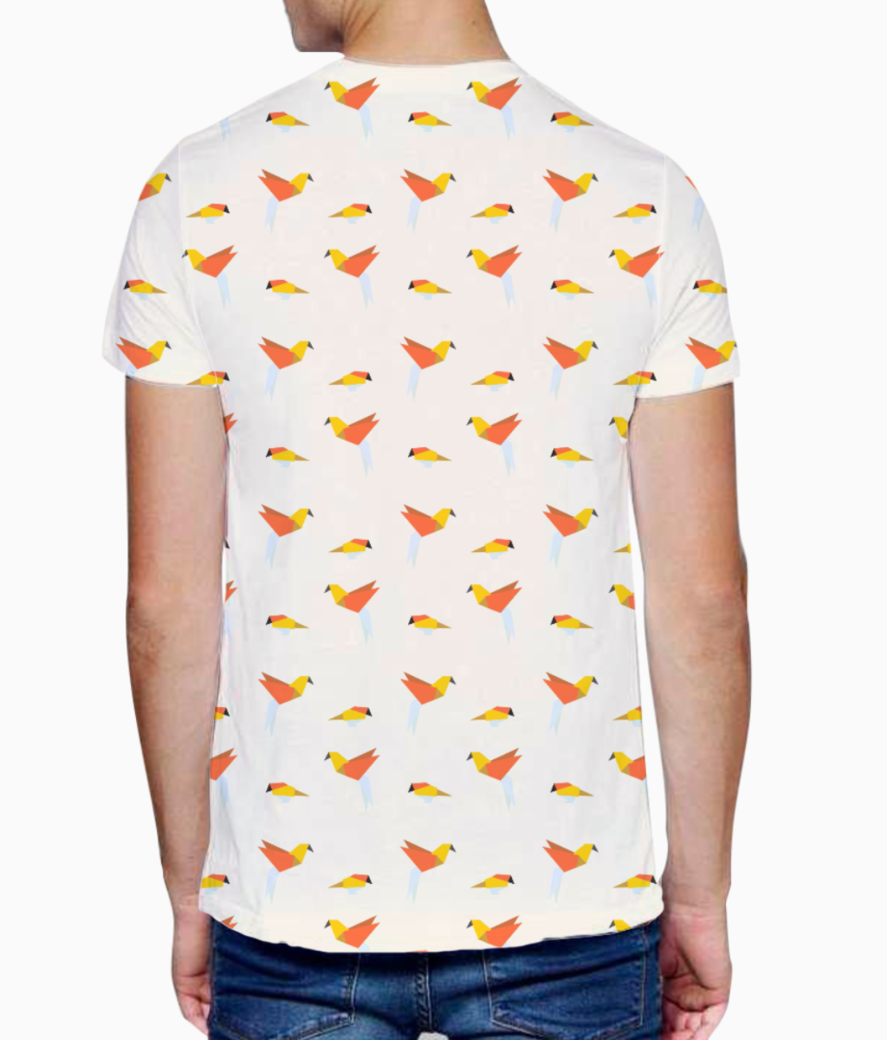 Origami bird  t shirt back
