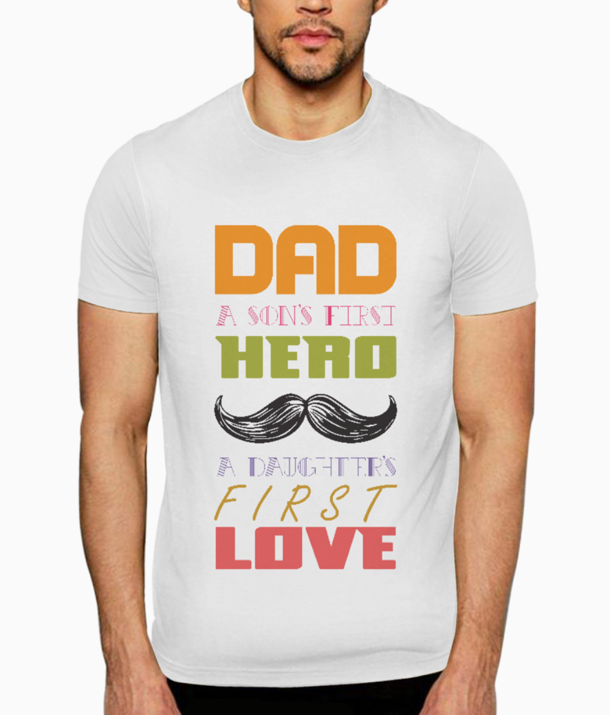 Dad a sons first hero t shirt front
