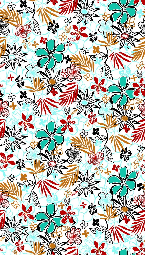 Textile design  patterns 3