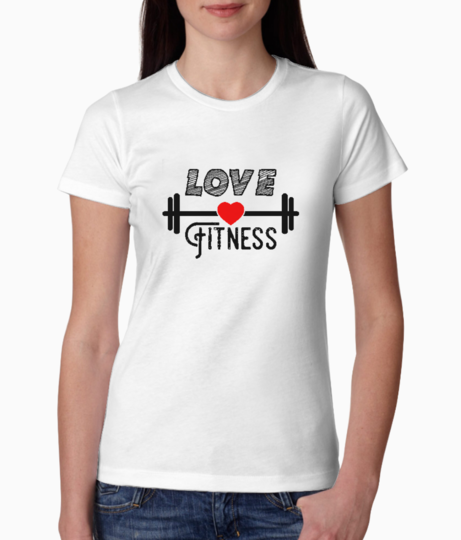 Love fitness typography tee front