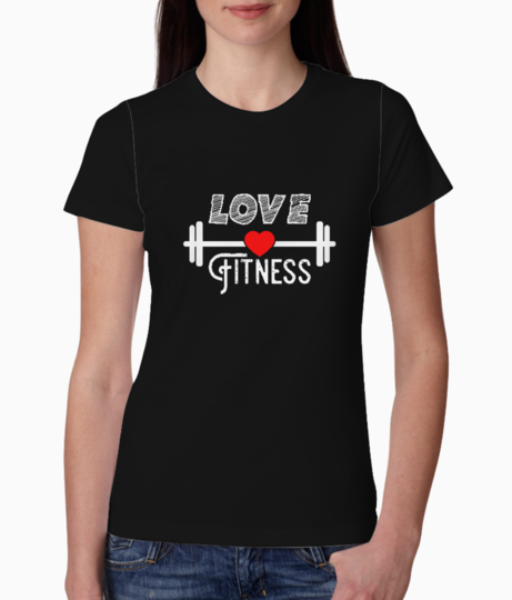 Love fitness tee front