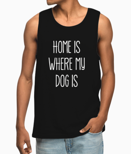 My dog is typography vest front