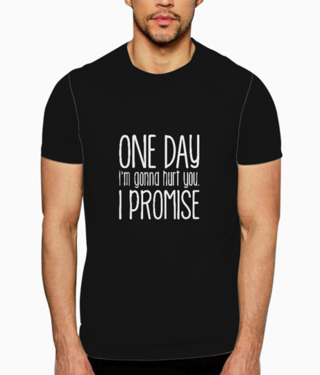 I promise typography t shirt front