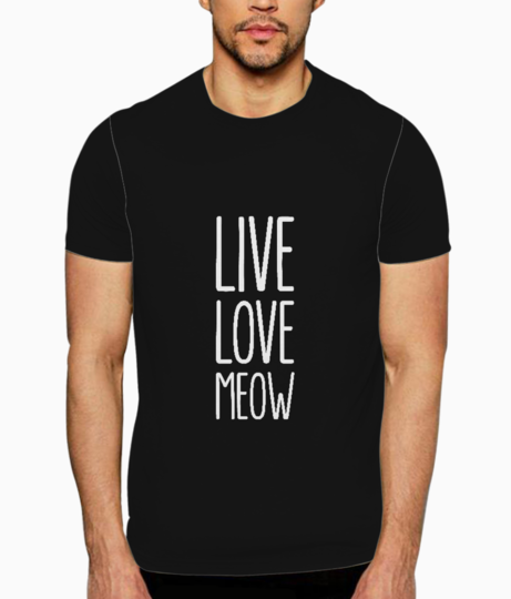 Meow typography t shirt front