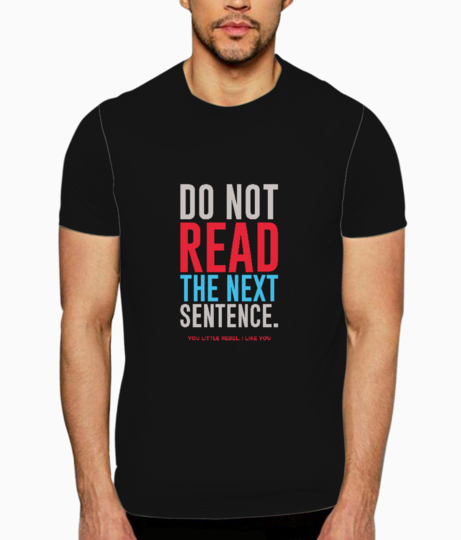 Read the next t shirt front