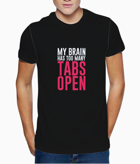 Tabs open t shirt front