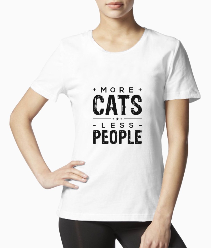 Cats people tee front