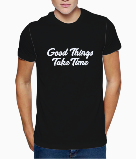 Good things typography t shirt front