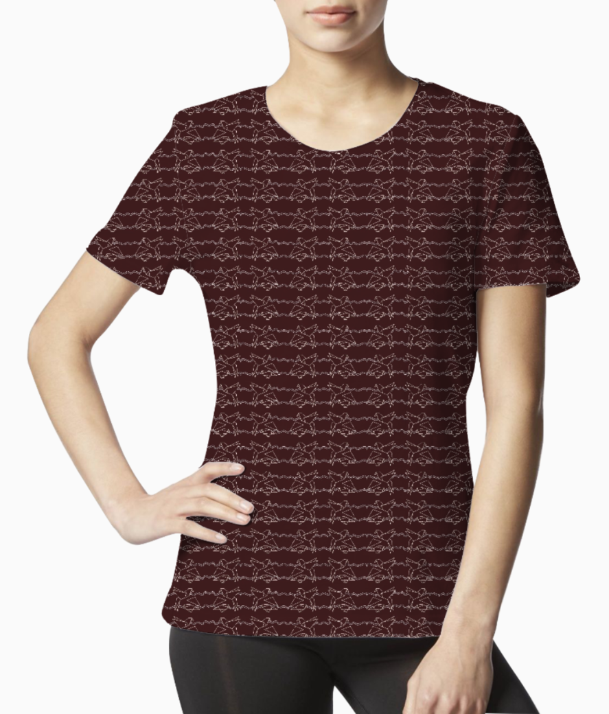 Brown cluster tee front