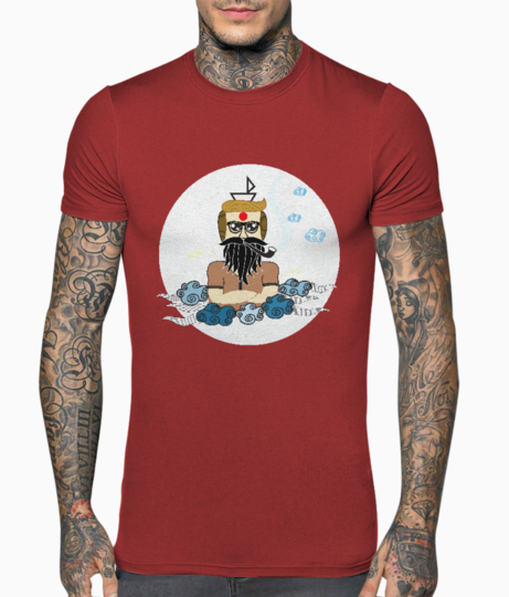 Body builder baba color t shirt front