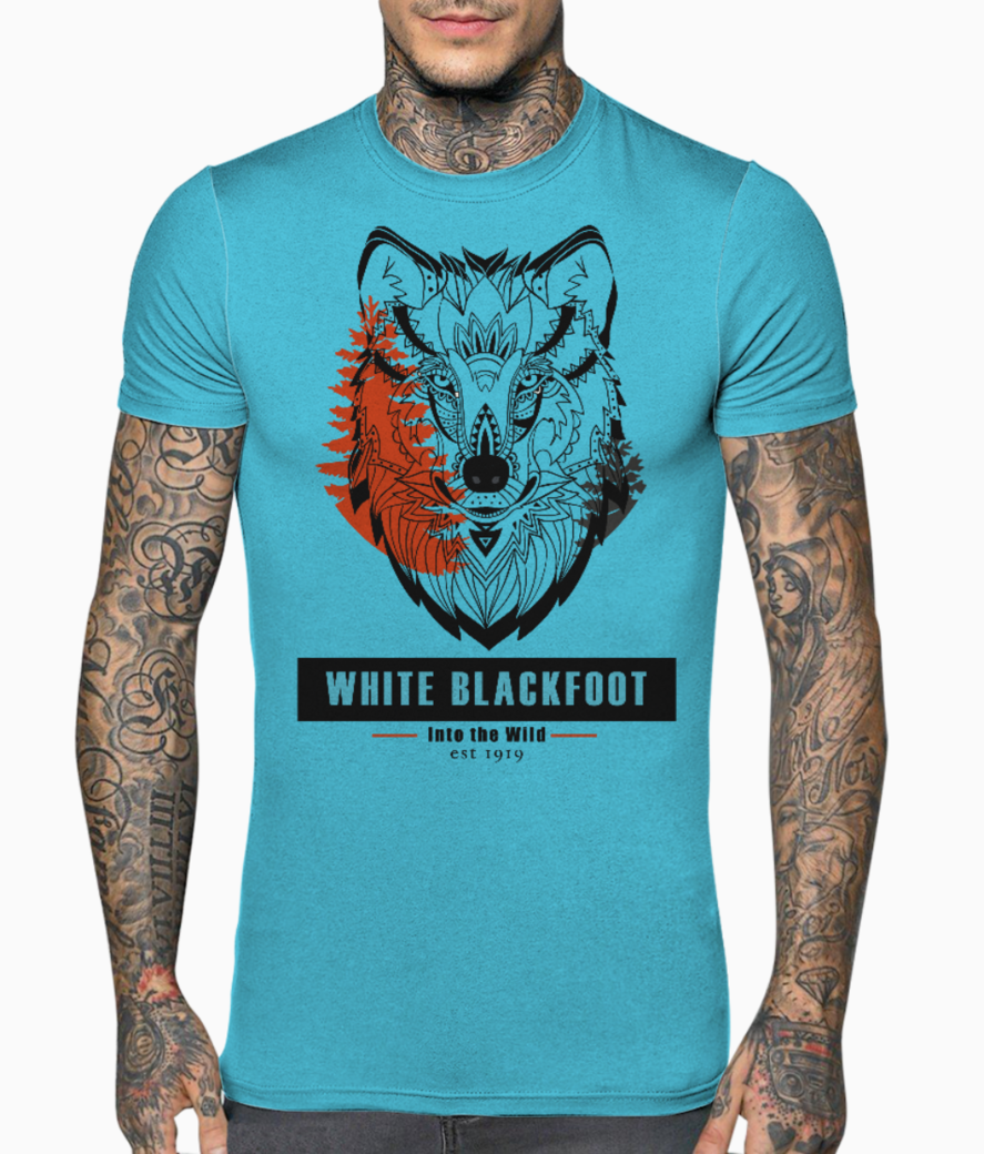 Wolf 01 t shirt front