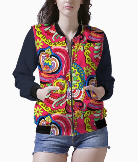 Flodoodle women's bomber front