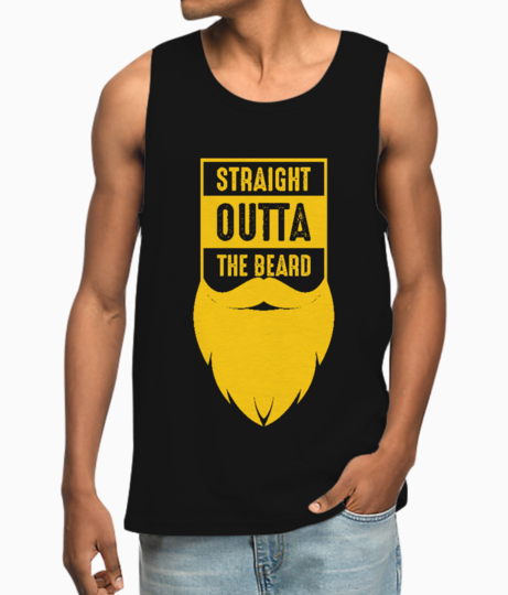 Straight outta the beard yellow vest front